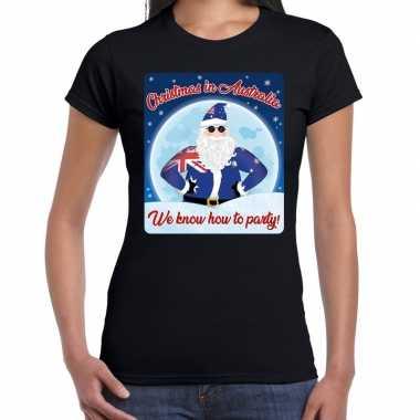 Fout australie kerst shirt christmas australia zwart dam