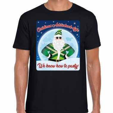 Fout kerst shirt achterhoek style zwart heren