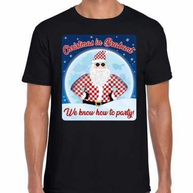 Fout kerst shirt christmas brabant zwart heren
