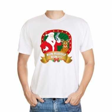 Foute kerst t-shirt run rudolf heren