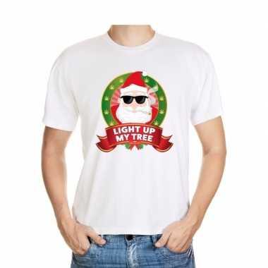 Foute kerst t-shirt stoned kerstman heren