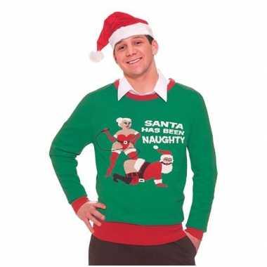 Foute kersttrui Naughty Santa