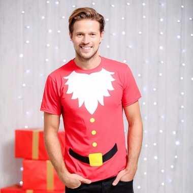 Heren kerst t-shirt kerstman baard