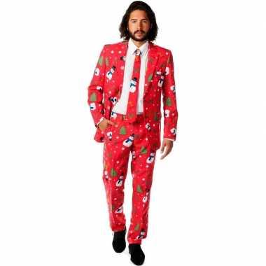 Heren kostuum kerst print
