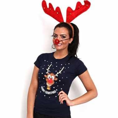 Kersttrui Dames Rendier.Kerst Dames T Shirt Rendier Foutekersttrui Lol Nl