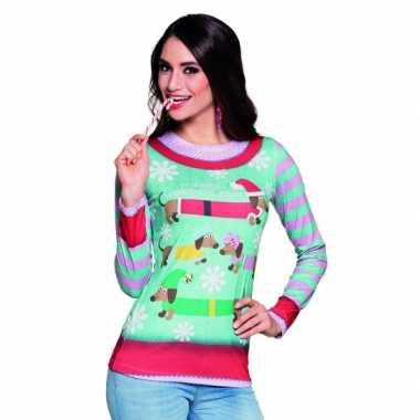Foute Kersttrui Dames.Kerst Shirt Kerst Opdruk Dames Foutekersttrui Lol Nl