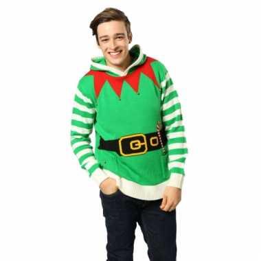 Foute Kersttrui Volwassenen.Kersttrui Elfen Outfit Volwassenen Foutekersttrui Lol Nl