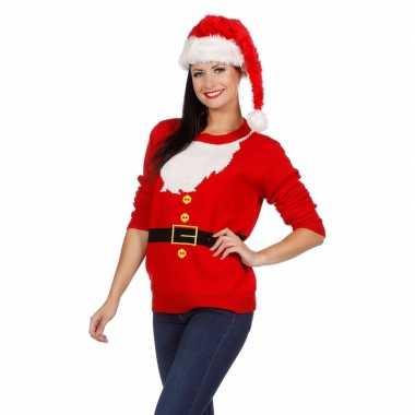 Foute Kersttrui Dames.Kersttrui Kerstman Dames Foutekersttrui Lol Nl
