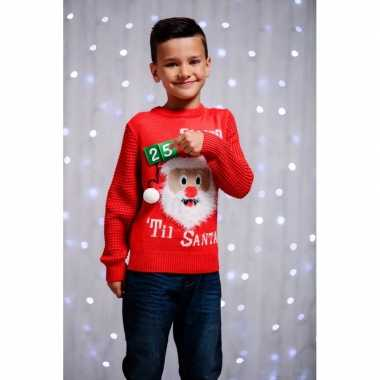 Kersttrui kinderen 3d aftel kalender