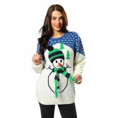 Kersttrui sneeuwpop volwassenen