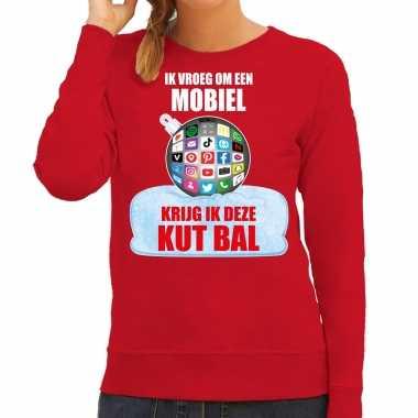 Kut kerstbal sweater / kersttrui outfit ik vroeg om een mobiel krijg ik deze kut bal rood dames