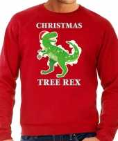 Christmas tree rex kersttrui outfit rood heren