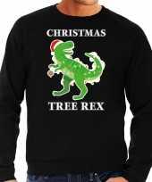 Christmas tree rex kersttrui outfit zwart heren