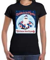 Fout friesland kerst shirt christmas fryslan zwart dames