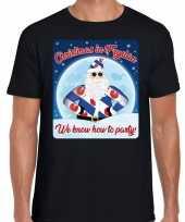 Fout friesland kerst shirt christmas fryslan zwart heren