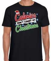 Fout kerst-shirt christmas calories zwart heren