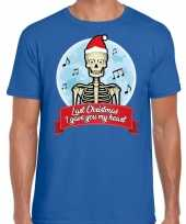 Fout kerst-shirt last christmas i gave you my heart blauw heren
