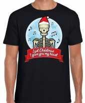 Fout kerst-shirt last christmas i gave you my heart zwart heren