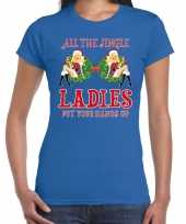 Fout kerst shirt single jingle ladies blauw dames