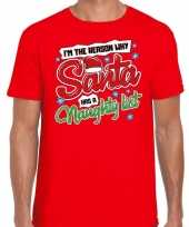 Fout kerst shirt why santa has a naughty list rood heren