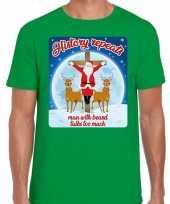 Fout kerst t shirt history repeats groen heren