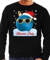 Foute kerst sweater trui christmas party zwart heren