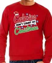 Foute kersttrui calories dont count christmas rood heren