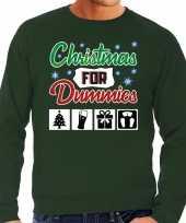 Foute kersttrui christmas for dummies groen heren