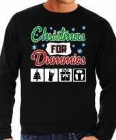 Foute kersttrui christmas for dummies zwart heren