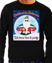 Foute kersttrui christmas suriname zwart heren