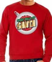 Foute kersttrui great balls of santa rood heren