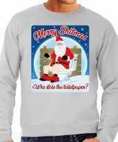 Foute kersttrui merry shitmas grijs heren 10172408