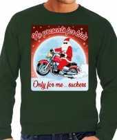 Foute kersttrui motorliefhebbers no presents groen heren