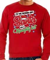 Foute kersttrui why santa has a naughty list rood heren