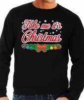 Foute kersttrui zwart take me its christmas heren 10129996