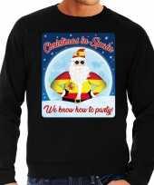 Foute spanje kersttrui christmas spain zwart heren