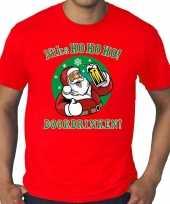 Grote maten fout kerst shirt niks hohoho doordrinken rood heren