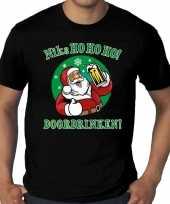 Grote maten fout kerst shirt niks hohoho doordrinken zwart heren