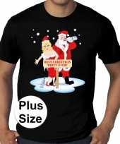 Grote maten fout kerst t shirt best christmas party zwart heren