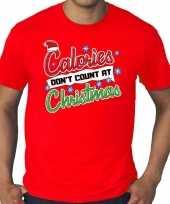 Grote maten foute kerst shirt christmas calories rood heren