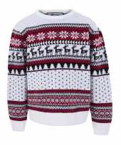 Kersttrui kinderen nordic print wit