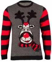 Kersttrui rudy reindeer dames