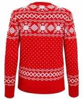 Rode dames kersttrui nordic