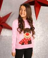 Roze kersttrui meisjes